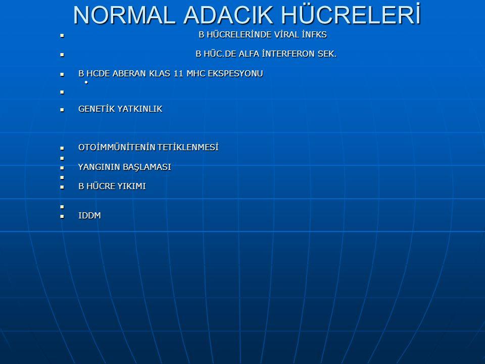 Non spesifik viral ve bakteriyel infeksiyon MAKROFAJ MAKROFAJ IL-1 ve TNF- ALFA ARTAR IL-1 ve TNF- ALFA ARTAR HAFİF B HÜCRE HASARI HAFİF B HÜCRE HASAR