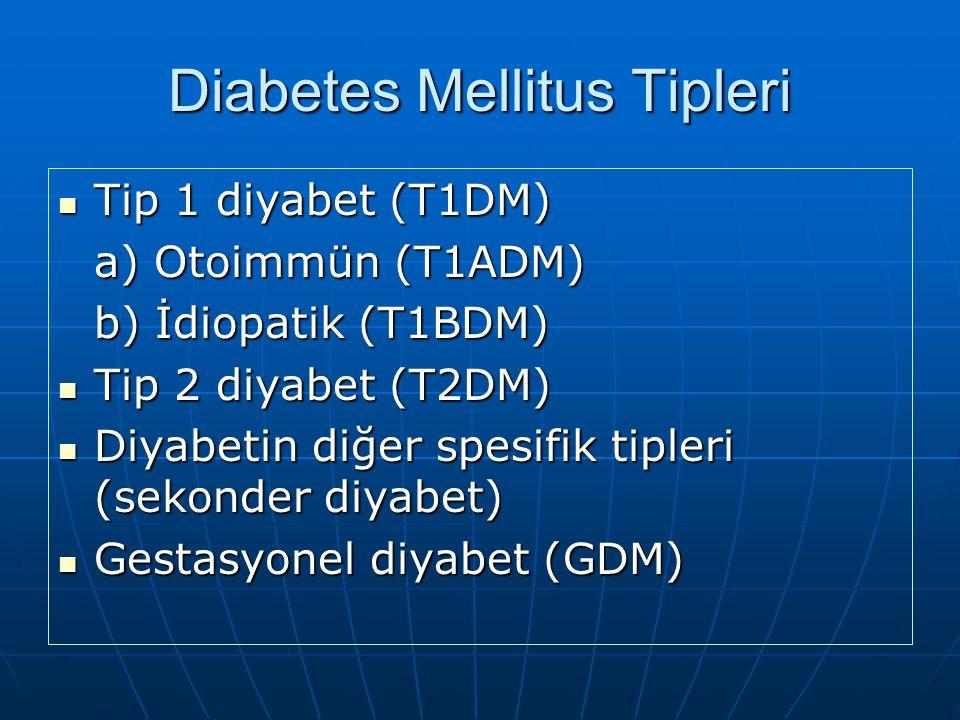 DİABETES MELLİTUS Pankreasdan insülin salınımının mutlak veya relatif yetersizliği veya insülin etkisinin yetersizliği ile oluşan karbonhidrat protein