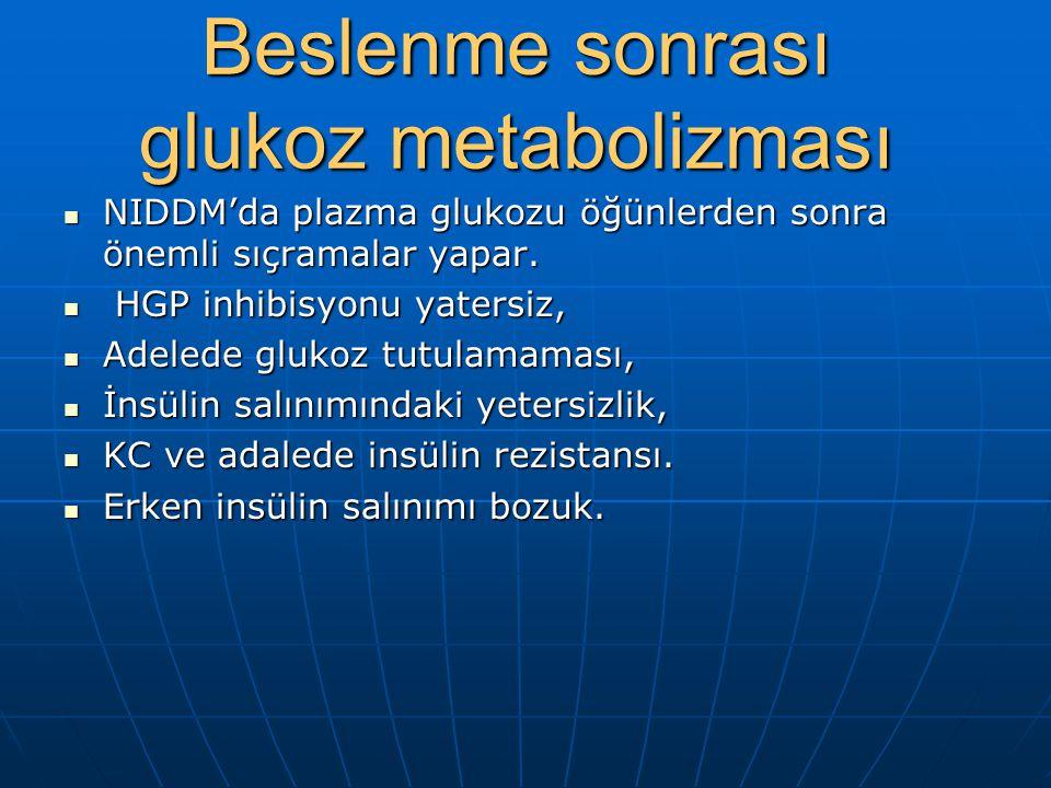 Adalede glukoz metabolizması Glut 4:İnsüline duyarlı glukoz taşıyıcı.Glukoz hücre içine taşınınca büyük kımı glikojen şeklinde depolanır(glikojen sent