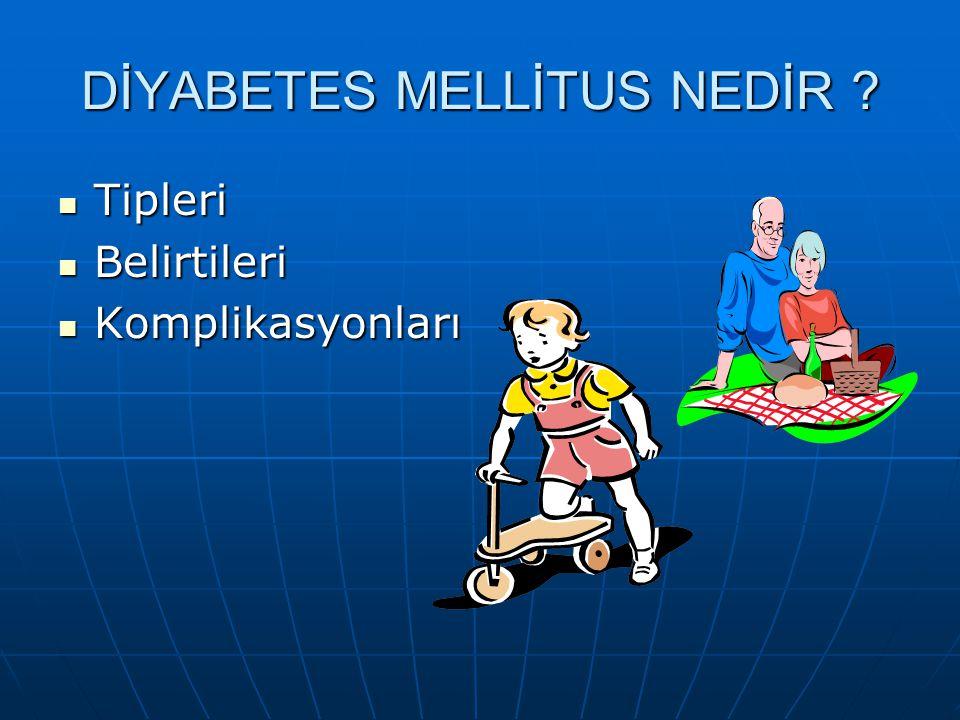 Diabetes Mellitus Tipleri Tip 1 diyabet (T1DM) Tip 1 diyabet (T1DM) a) Otoimmün (T1ADM) b) İdiopatik (T1BDM) Tip 2 diyabet (T2DM) Tip 2 diyabet (T2DM)