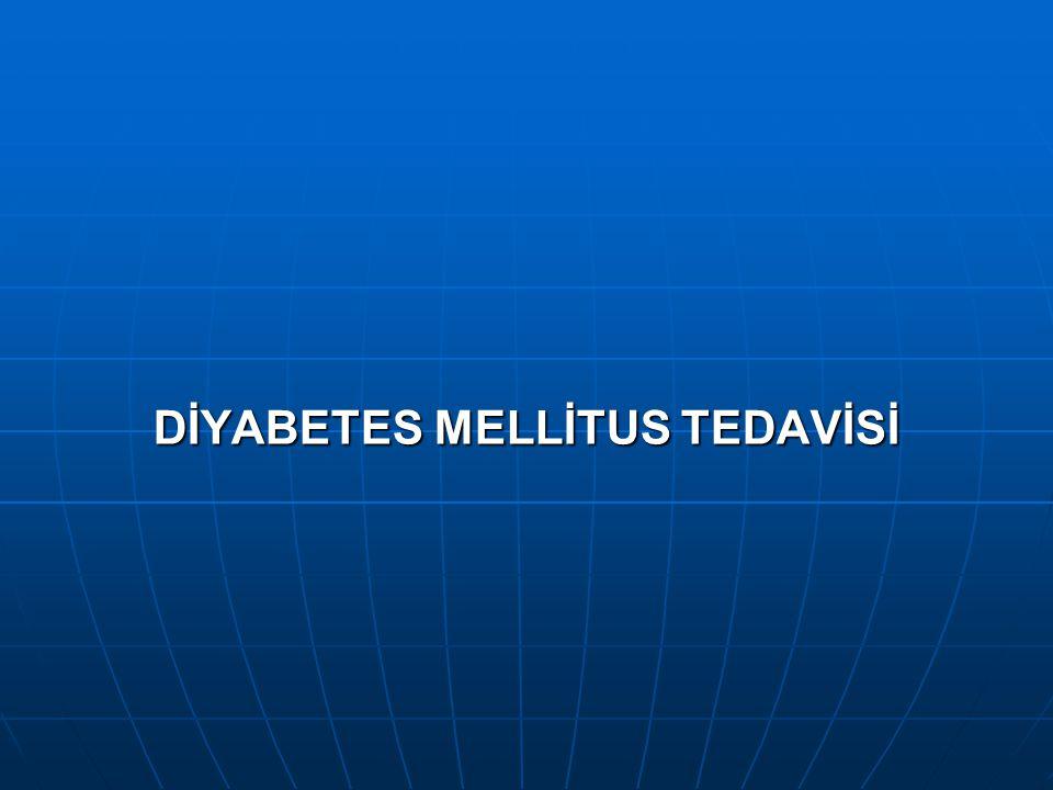 Diyabet Araştırması Yapılacak Bireyler 1. >45 yaş bireylerde, özellikle BKİ>25 kg/m 2 ise, AKG ölçülmeli, normal ise 3 yılda bir tekrar edilmeli. 2. O