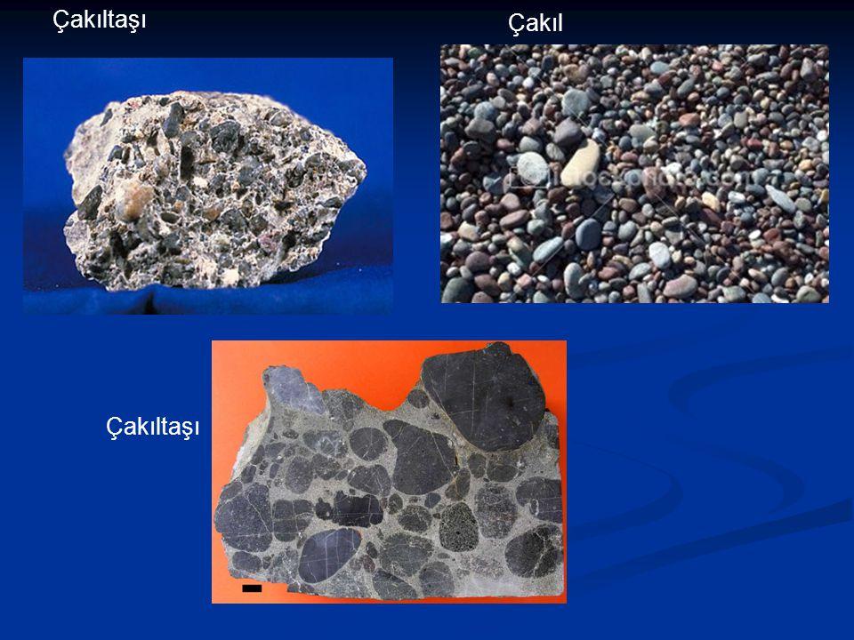 ÇAMURTAŞLARI Çamurtaşı çoğunlukla mil (4-62 mikron) ve kil ( 4 mikron) boyu tanelerden ibarettir.