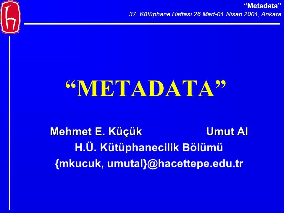 Metadata 37.Kütüphane Haftası 26 Mart-01 Nisan 2001, Ankara metadata .