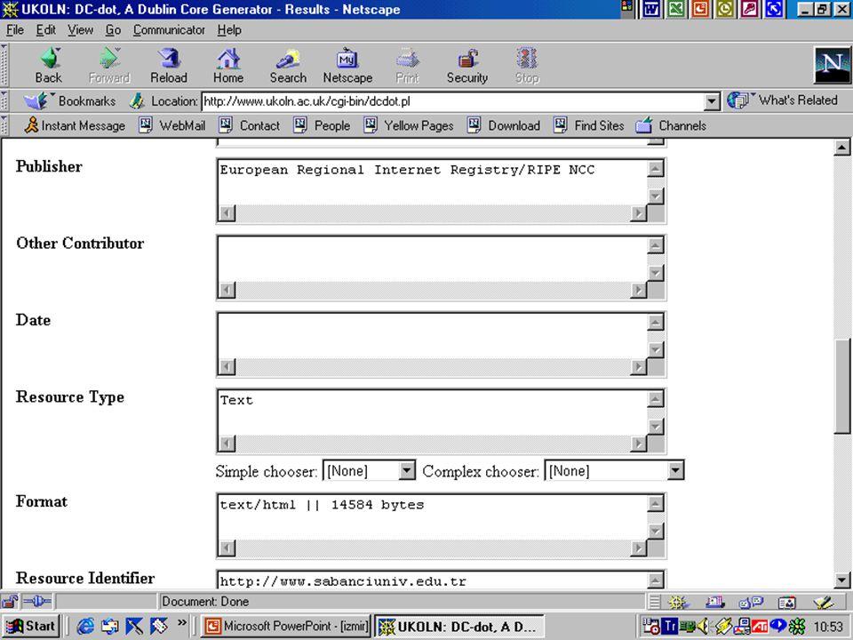 Metadata 37. Kütüphane Haftası 26 Mart-01 Nisan 2001, Ankara