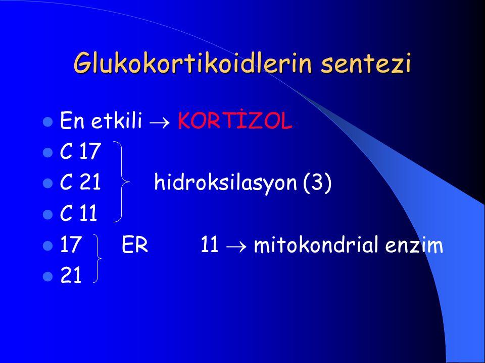 baskılayamaması veya idrar kortizol atılımını (kortizol/kreatinin ) baskılayamaması Cushing sendromunun diğer bir göstergesidir.