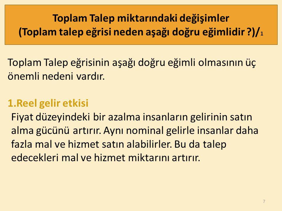 18 TOPLAM TALEPTE DEĞİŞİMLER /9 4.