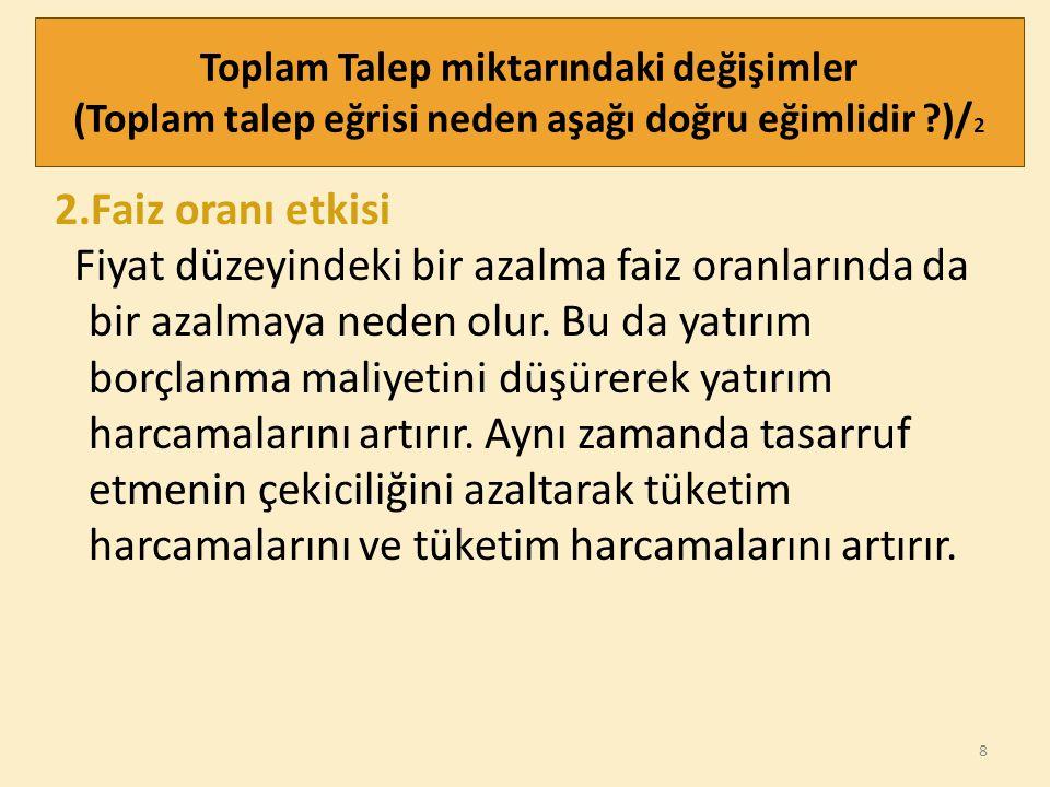 19 TOPLAM ARZ Bir ekonomide bütün firmaların üretip piyasaya arz ettiği mal ve hizmetlerin toplamına arz edilen toplam mal ve hizmet miktarı denir.