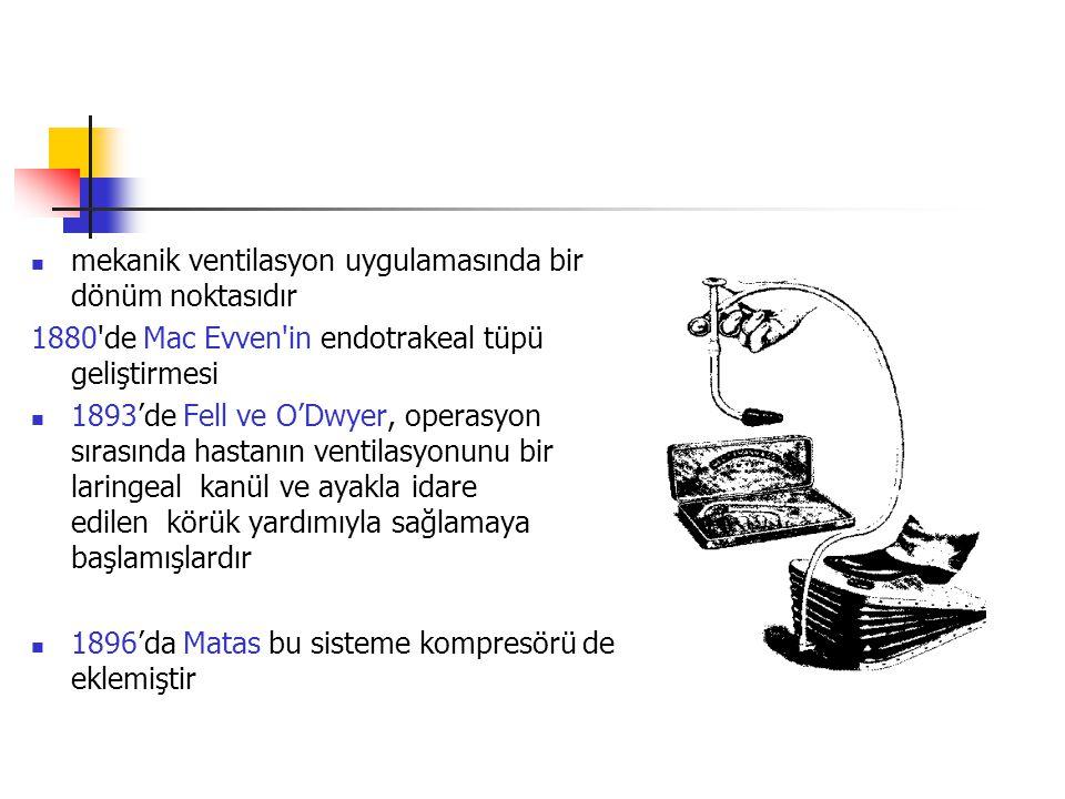 1911 yılında Drager resüsitasyon için pulmotoru geliştirmiştir