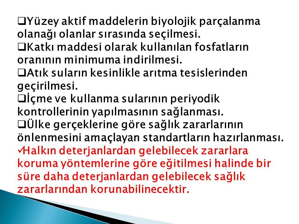 Peki ya Türkiye'de deterjanın olumsuz etkileri için neler yapılabilir?
