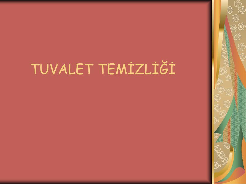 TUVALET TEMİZLİĞİ