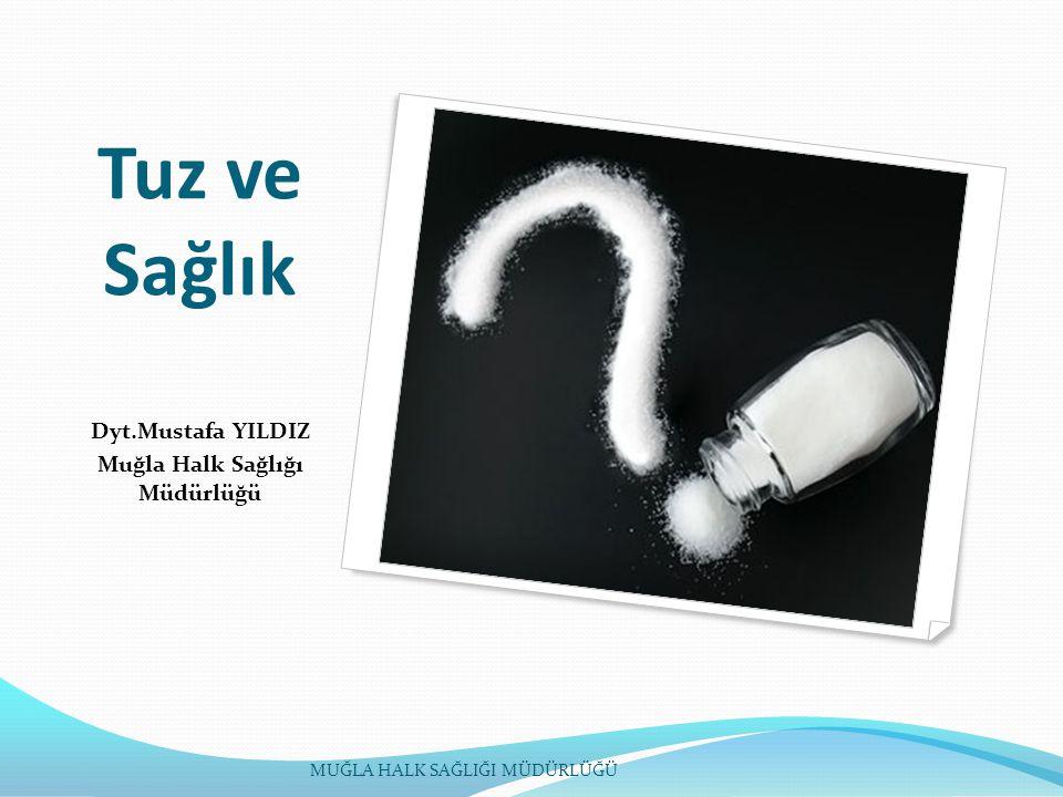 Tuz ve Sağlık Dyt.Mustafa YILDIZ Muğla Halk Sağlığı Müdürlüğü MUĞLA HALK SAĞLIĞI MÜDÜRLÜĞÜ