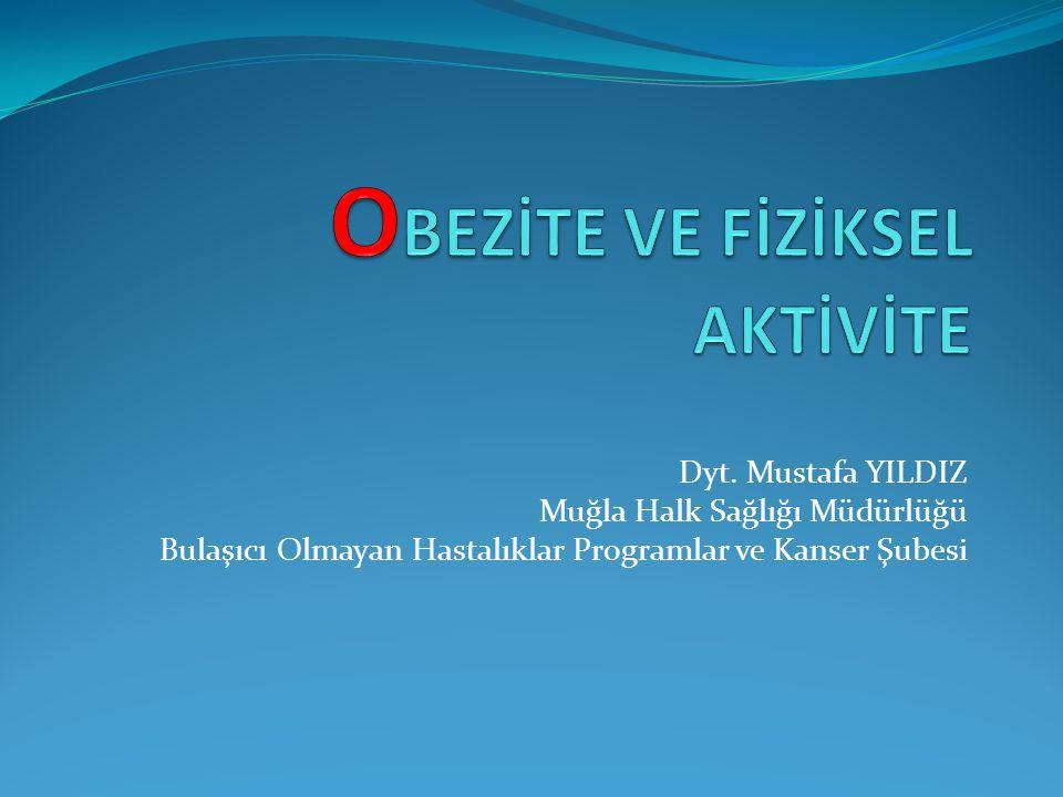 Dyt. Mustafa YILDIZ Muğla Halk Sağlığı Müdürlüğü Bulaşıcı Olmayan Hastalıklar Programlar ve Kanser Şubesi