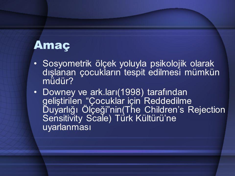 Yöntem Çalışma, Hacettepe Üniversitesi Sosyal Psikoloji Doktora Programı öğrencileri ve öğretim üyeleri tarafından yürütülmüştür.