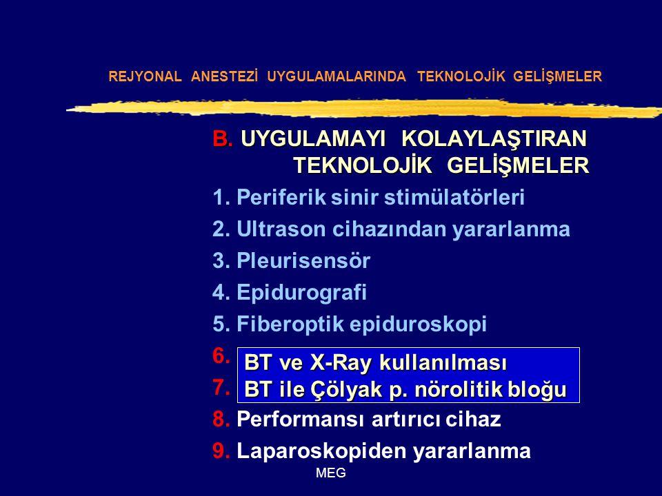 MEG B. UYGULAMAYI KOLAYLAŞTIRAN TEKNOLOJİK GELİŞMELER 1.