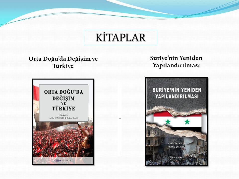 Orta Doğu'da Değişim ve Türkiye Suriye'nin Yeniden Yapılandırılması KİTAPLAR