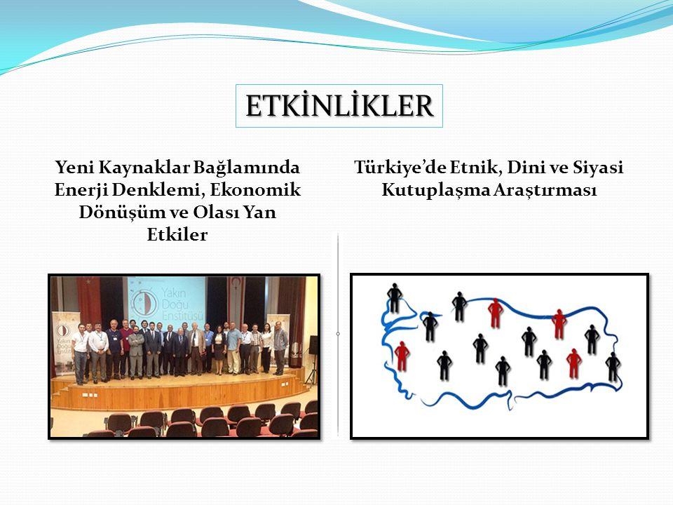 Yeni Kaynaklar Bağlamında Enerji Denklemi, Ekonomik Dönüşüm ve Olası Yan Etkiler Türkiye'de Etnik, Dini ve Siyasi Kutuplaşma Araştırması ETKİNLİKLER