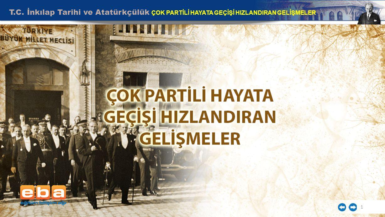 T.C. İnkılap Tarihi ve Atatürkçülük ÇOK PARTİLİ HAYATA GEÇİŞİ HIZLANDIRAN GELİŞMELER 1