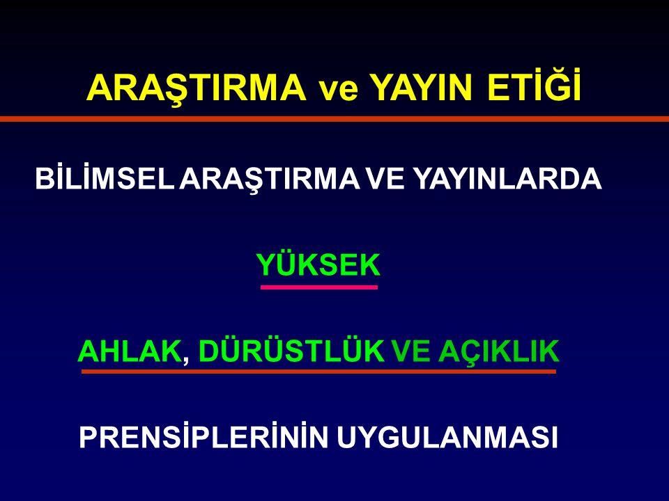 BİLİMSEL YANILTMA - ÖNLENMESİ I.