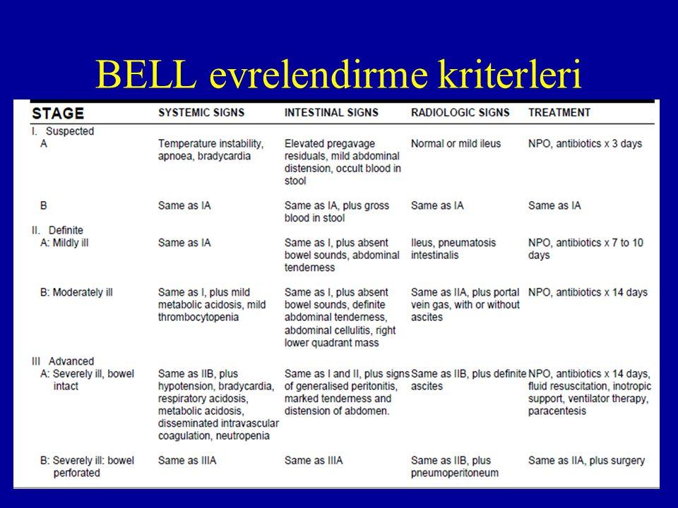 BELL evrelendirme kriterleri