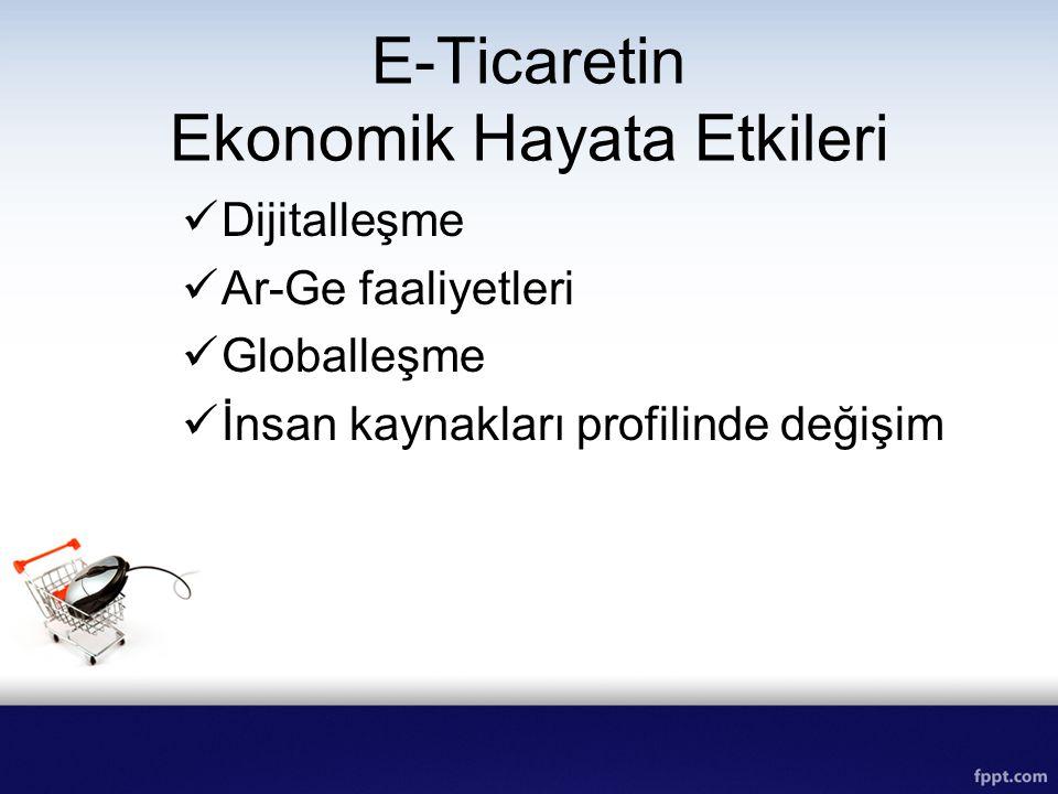 E-Ticaretin Ekonomik Hayata Etkileri Dijitalleşme Ar-Ge faaliyetleri Globalleşme İnsan kaynakları profilinde değişim
