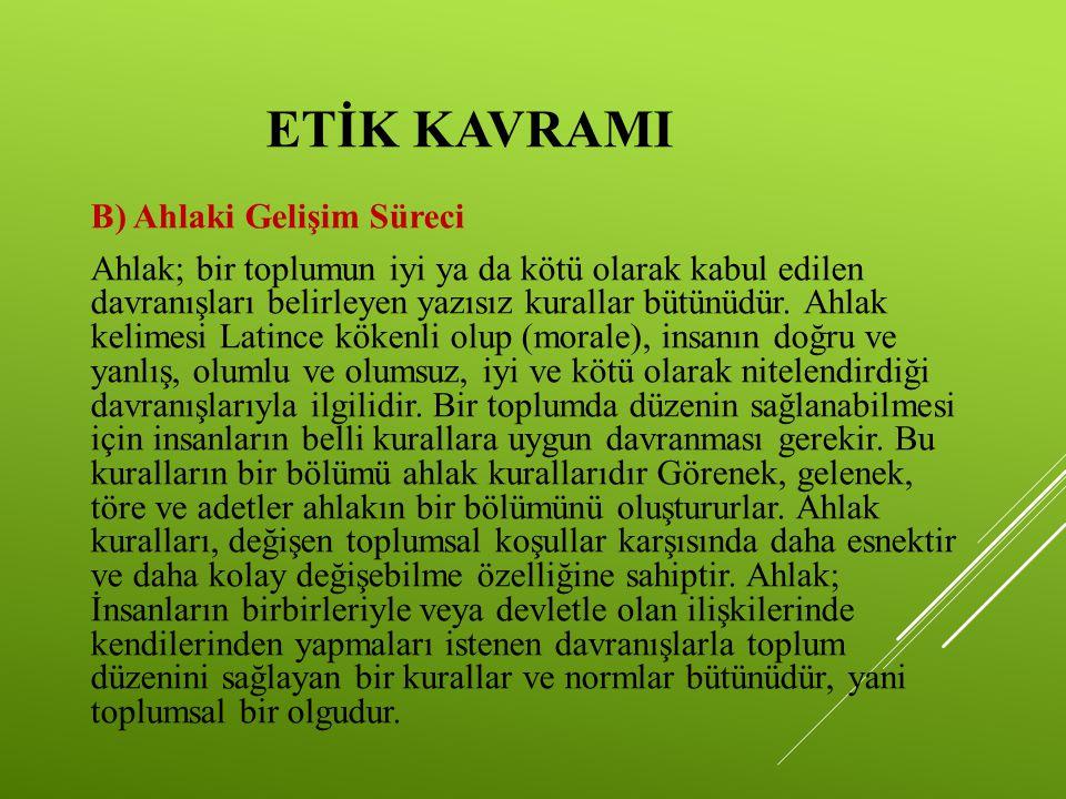 ETİK KAVRAMI C) Etik Kuralları M.Ö.4.yy.