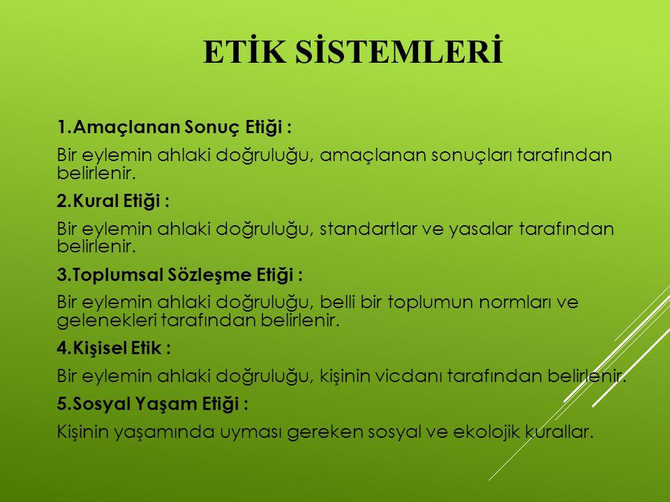 MESLEKİ ETİK İLKELER 4.