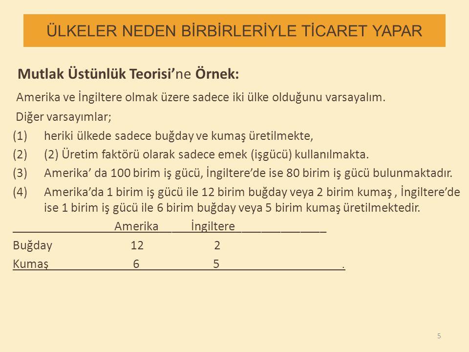 ÜLKELER NEDEN BİRBİRLERİYLE TİCARET YAPAR 4.