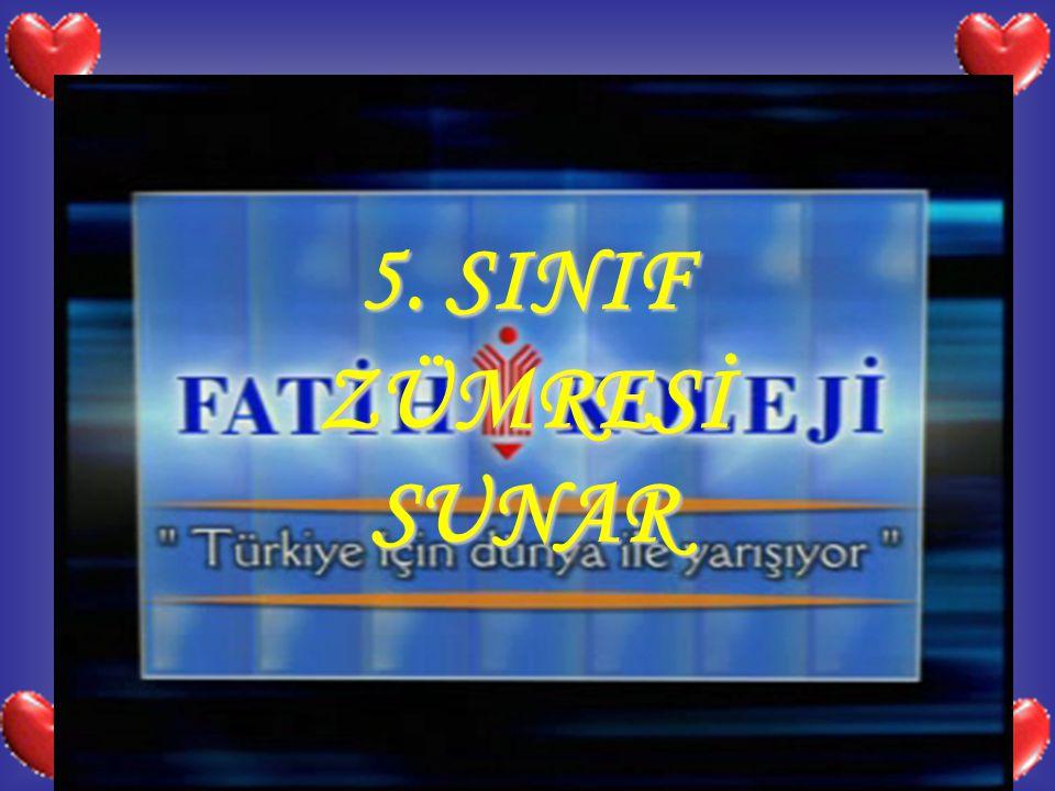 5. SINIF ZÜMRESİ SUNAR