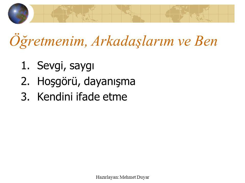 Hazırlayan: Mehmet Duyar Oyun Kuralları