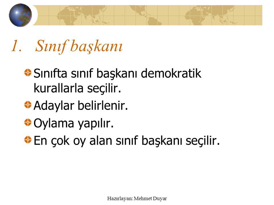 Hazırlayan: Mehmet Duyar5 Seçim sonuçları