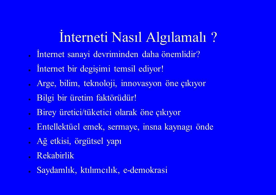 İnterneti Nasıl Algılamalı . ● İnternet sanayi devriminden daha önemlidir.