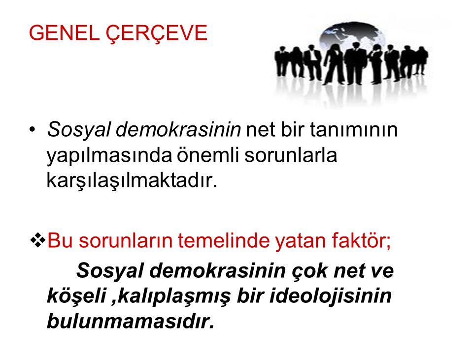 Sosyal Demokrasinin Temel İlkeleri DDAYANIŞMA Sosyal demokrasi toplumsal dayanışmanın oluşması ve yaygınlaştırılması için sivil toplum örgütlerinin oluşturulması ve desteklenmesinden yanadır.