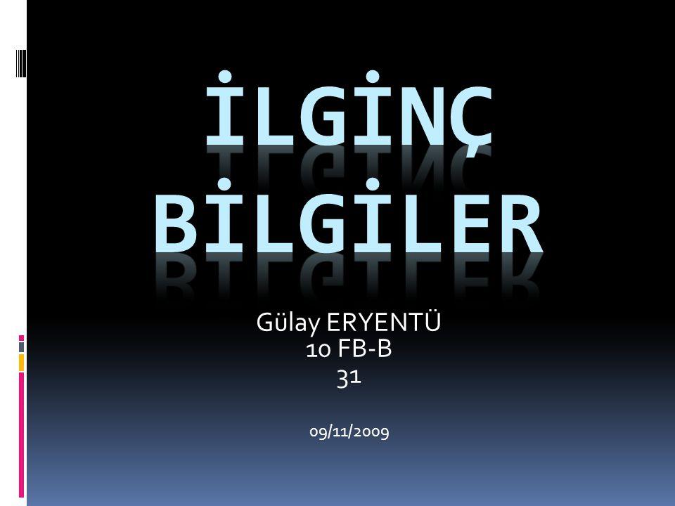 Gülay ERYENTÜ 10 FB-B 31 09/11/2009