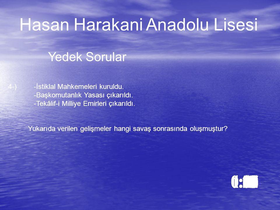 Cevap: b)Şu an ne kadar meşgul olduğumu görmüyor musun Hasan Harakani Anadolu Lisesi