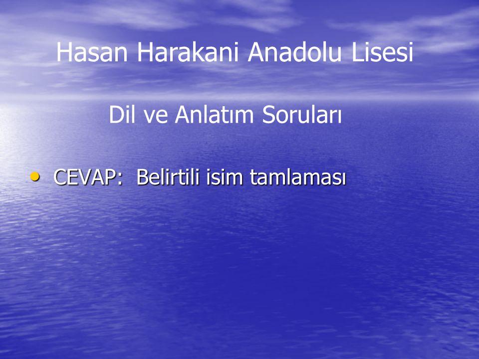 Cevap:5/4 Cevap:5/4 Hasan Harakani Anadolu Lisesi