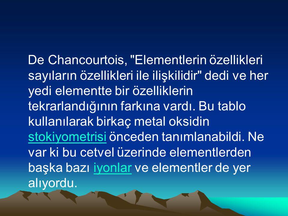 De Chancourtois,