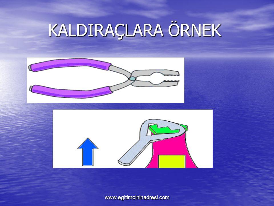 KALDIRAÇLARA ÖRNEK KALDIRAÇLARA ÖRNEK www.egitimcininadresi.com