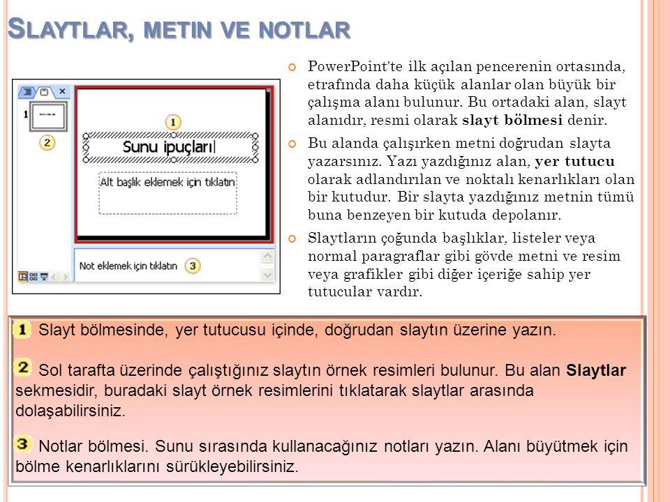 Bir Microsoft PowerPoint® sunusunu çabucak ve karışıklık yaşamadan oluşturmak için bilmeniz gerekenler; KAYNAK : Microsoft Office Türkiye – Eğitim