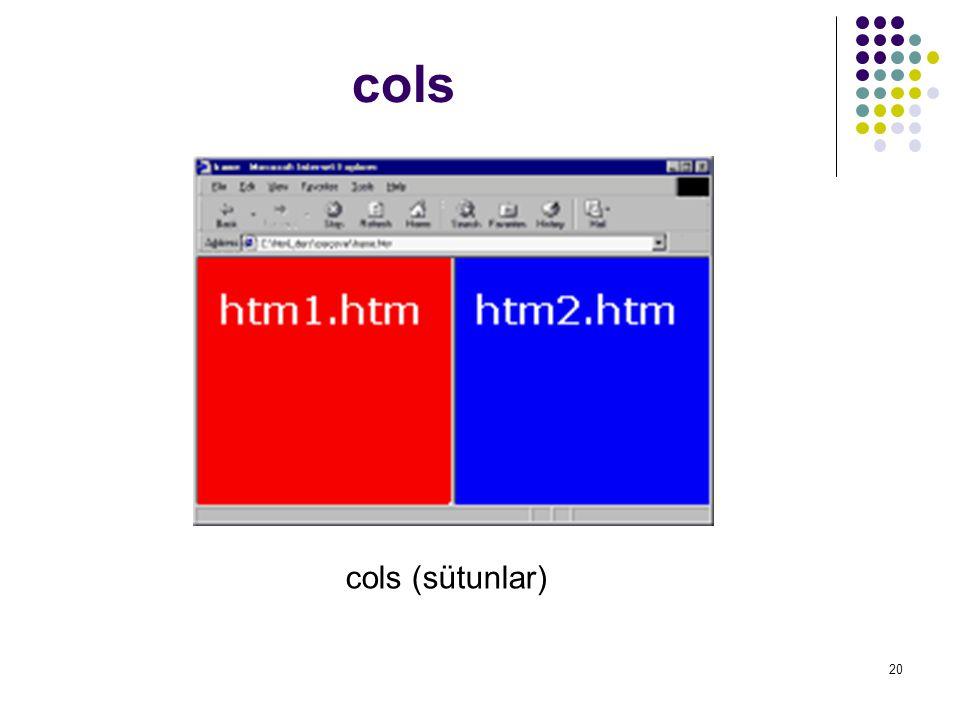 20 cols cols (sütunlar)