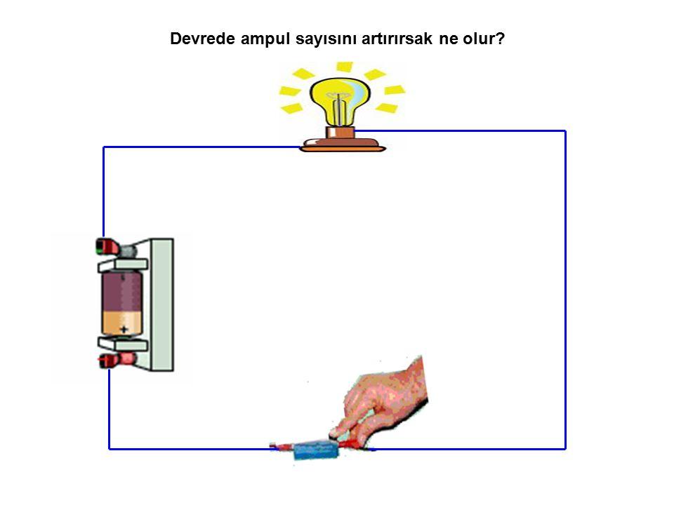 Ampul sayısının artmasıyla enerji ampuller arası paylaşılır. Böylelikle ampulün parlaklığı düşer.