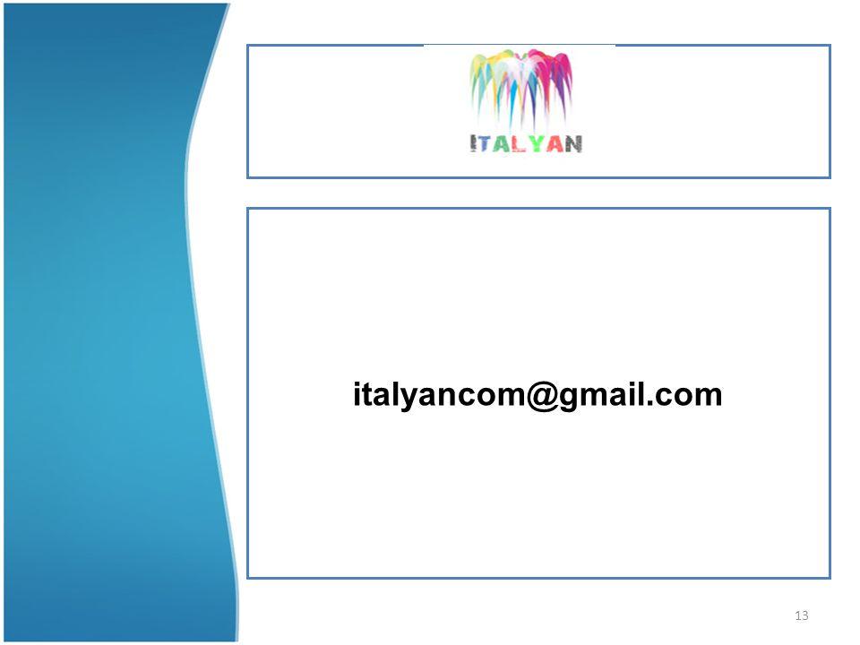 13 italyancom@gmail.com