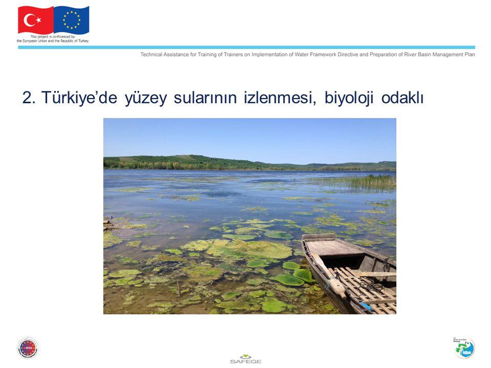 Gözetim Gözetimsel izleme, SÇD kapsamında havzadaki suyun statüsüyle ilgili genel bir bakış verir.