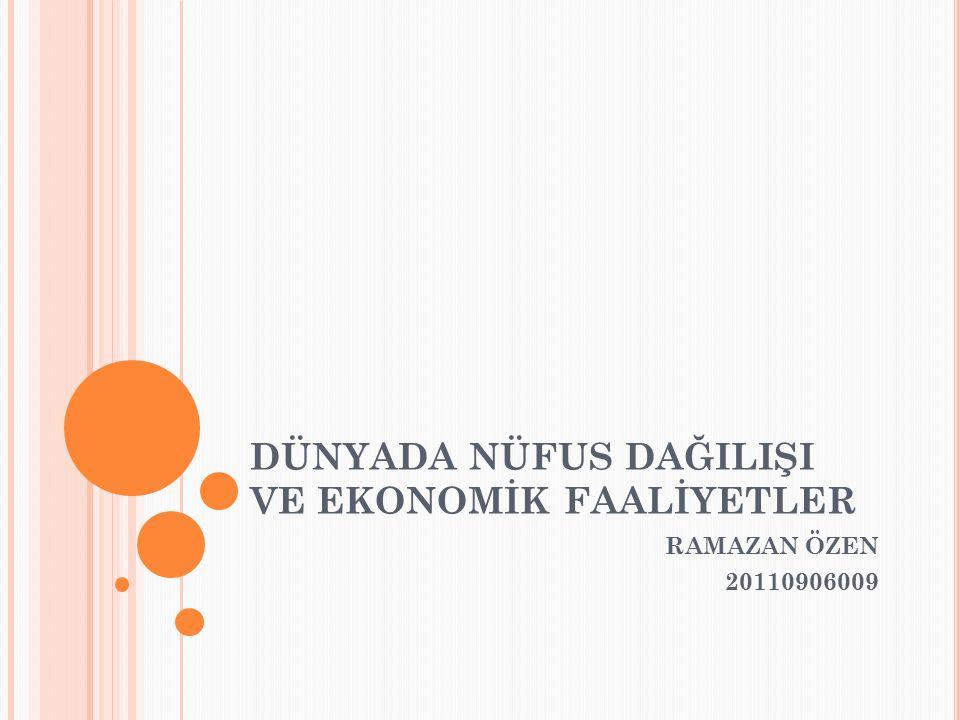 Tarımsal faaliyetlerin gelişmiş olduğu yerler sık nüfusludur.Türkiye'de Bafra,Çarşamba,Çuku r ova gibi.