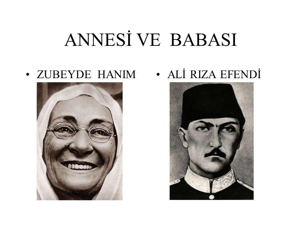ANNESİ VE BABASI ZUBEYDE HANIMALİ RIZA EFENDİ