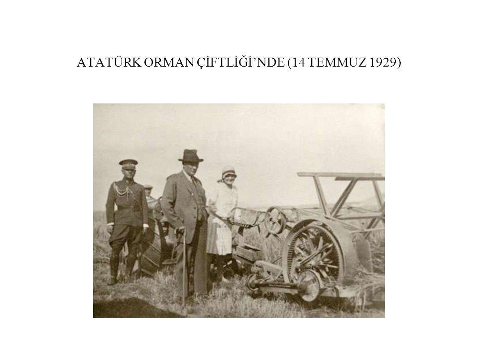 ATATÜRK ORMAN ÇİFTLİĞİ'NDE (14 TEMMUZ 1929)