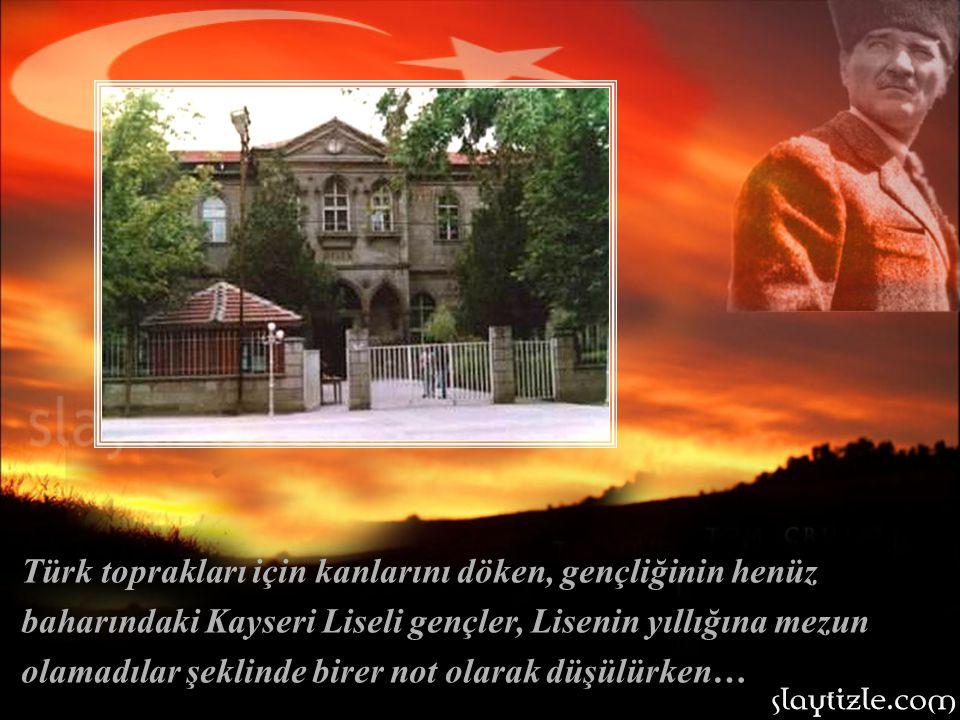 Sakarya savaşı sırasında, tüm gücüyle saldıran düşman kuvvetlerinin Ankara'ya yaklaşması nedeni ile, T.B.M.M.'nin Kayseri Lisesi'ne geçici olarak taşı