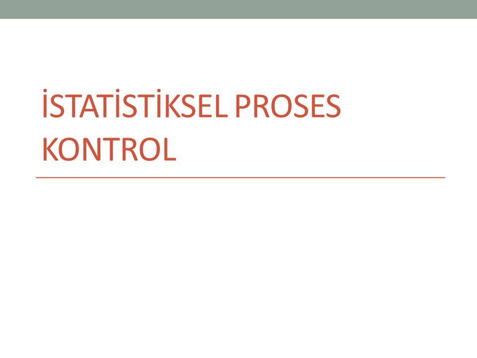 Örnek 7 Kontrol standartları bilinmektedir.