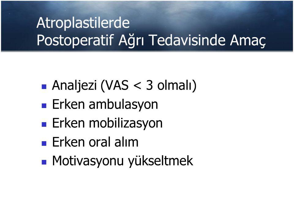 GATA Anestezi Kliniğinin Protokolü - 2 İntraoperatif dönem Kombine spinal-epidural blok Periartiküler enjeksiyon Bupivacain 20 ml %0.5 + Epinefrin 300 mcg Metilprednizolon asetat 40 mg Toplam volüm 60 ml Postoperatif Epidural HKA
