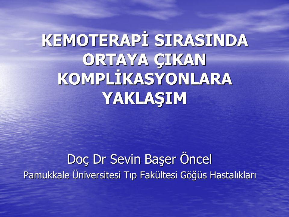 Kemoterapi veya radyasyon ilişkili anemi Bazal Hb <10 g/dLEpoetin önerilen tedavi seçeneğidir.