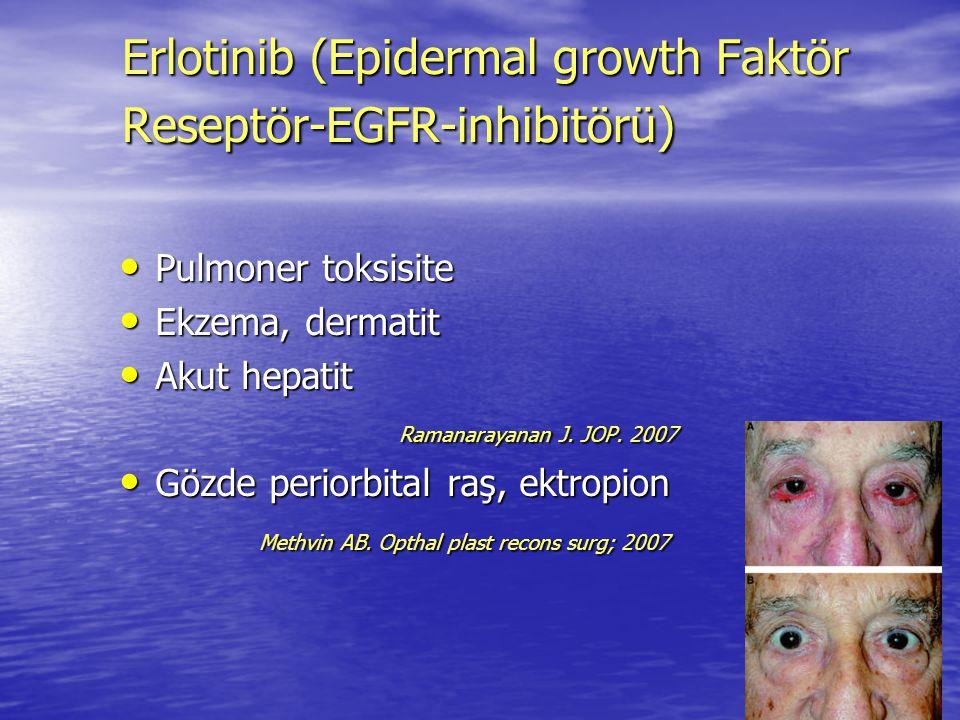 Pulmoner toksisite Pulmoner toksisite Ekzema, dermatit Ekzema, dermatit Akut hepatit Akut hepatit Ramanarayanan J. JOP. 2007 Ramanarayanan J. JOP. 200